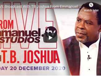 Prophet TB Joshua Sunday Live Service December 20 2020