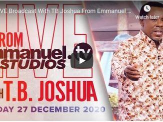 Prophet TB Joshua Sunday Live Service December 27 2020