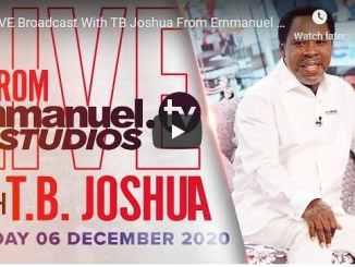 Prophet TB Joshua Sunday Live Service December 6 2020