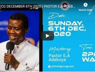 RCCG Sunday Live Service December 6 2020 With Pastor Adeboye