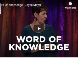 Joyce Meyer Message - Word Of Knowledge