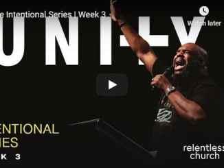 Pastor John Gray Sermon - Intentional Unity