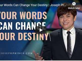 Pastor Joseph Prince Sermon - Your Words Can Change Your Destiny