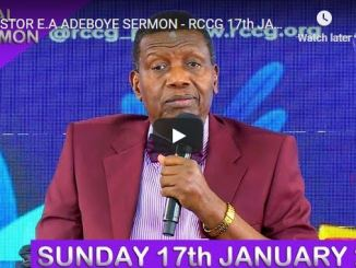RCCG Sunday Live Service January 17 2021 With Pastor Adeboye
