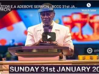 RCCG Sunday Live Service January 31 2021