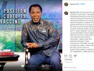 What Prophet TB Joshua Said About Covid-19 Vaccine