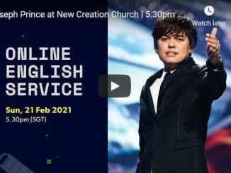 Joseph Prince At New Creation Church February 21 2021