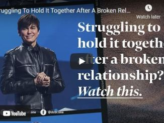 Joseph Prince - Struggling To Hold It Together After A Broken Relationship?