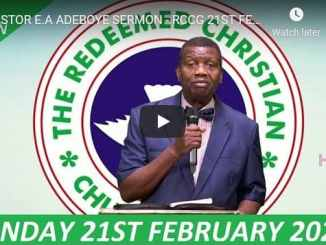 RCCG Sunday Live Service February 21 2021 With Pastor Adeboye