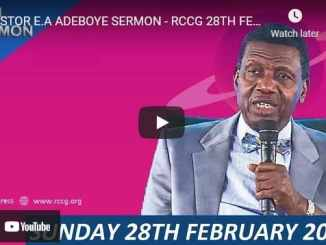 RCCG Sunday Live Service February 28 2021 With Pastor Adeboye