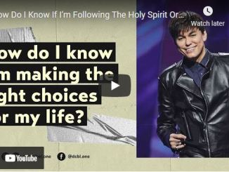 Joseph Prince - How Do I Know If I'm Following The Holy Spirit Or Just Hearing Myself