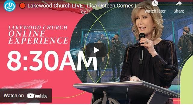 Lakewood Church Sunday Live Service March 14 2021