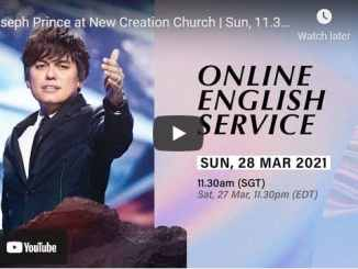 Pastor Joseph Prince At New Creation Church Service March 28 2021