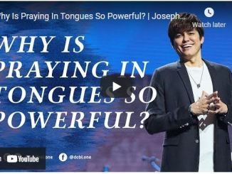Pastor Joseph Prince Sermon - Why Is Praying In Tongues So Powerful?