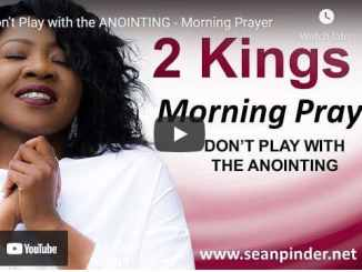 Pastor Sean Pinder Morning Prayer March 25 2021