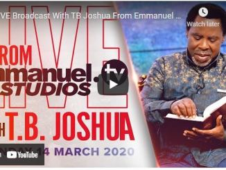 Prophet TB Joshua Sunday Live Service March 14 2021