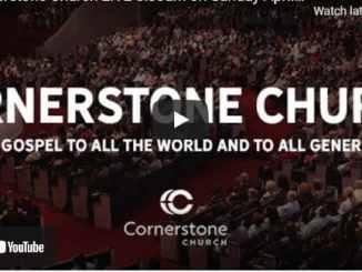 Cornerstone Church Sunday Live Service April 25 2021