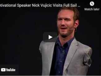 Nick Vujicic Visits Full Sail University - Video