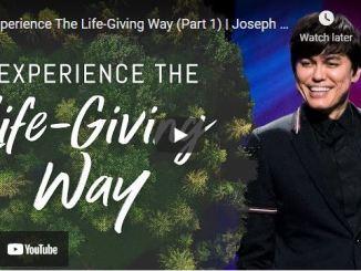 Pastor Joseph Prince Sermons: Experience The Life-Giving Way