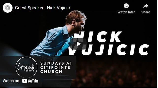 Pastor Nick Vujicic's Motivational Speech At Citipointe Church