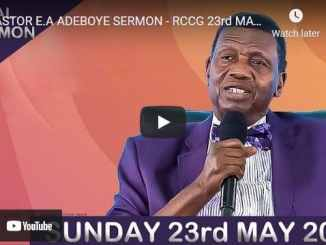 RCCG Sunday Live Service May 23 2021 With Pastor Adeboye