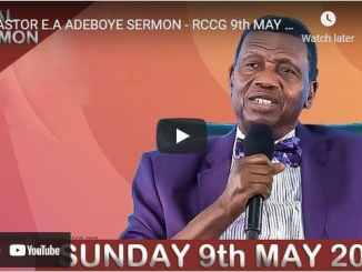 RCCG Sunday Live Service May 9 2021 With Pastor Adeboye