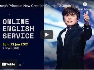 New Creation Church Sunday Service With Joseph Prince June 13 2021