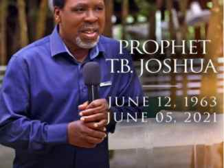 Is Prophet TB Joshua Dead