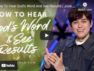 Pastor Joseph Prince Sermons: How To Hear God's Word And See Results