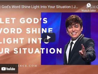 Pastor Joseph Prince: Let God's Word Shine Light Into Your Situation