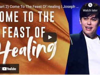 Pastor Joseph Prince: Come To The Feast Of Healing (Part 2)