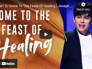 Pastor Joseph Prince: Come To The Feast Of Healing (Part 3)