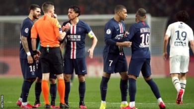 Photo of Neymar sent off as PSG defeat Bordeaux