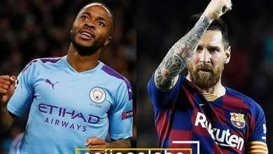Raheem Sterling and Lionel Messi