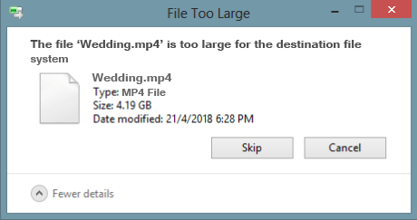 file too large for destination file system