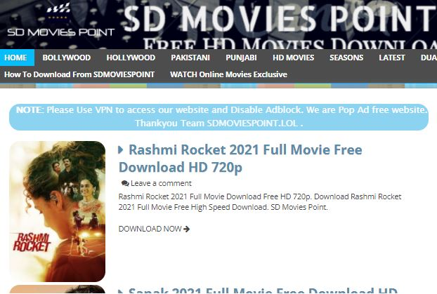 Sdmoviespoint: Free HD Movies Download (Oct 2021)