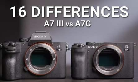 Sony A7C vs A7 III
