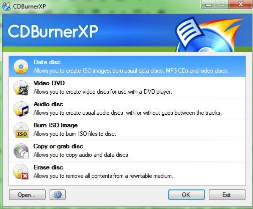 CDBurnerXP DVD Burning Software