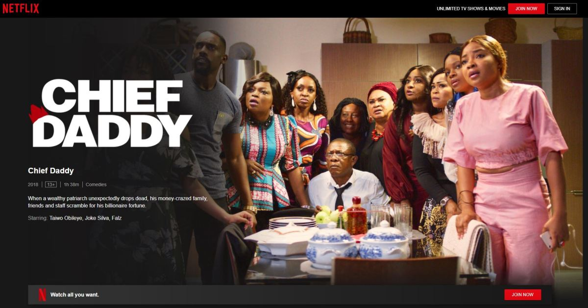 chief daddy Nollywood Movies on Netflix