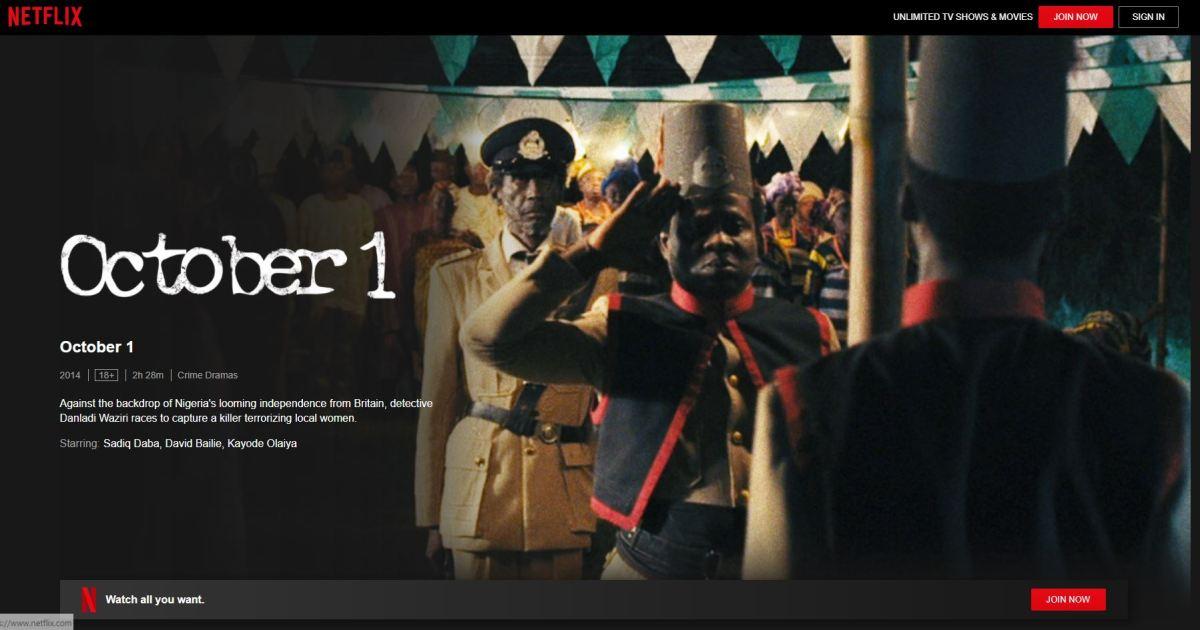 Nollywood Movies on Netflix - october 1