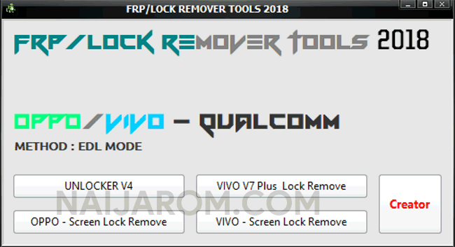 FRP Lock Remover Tools 2018