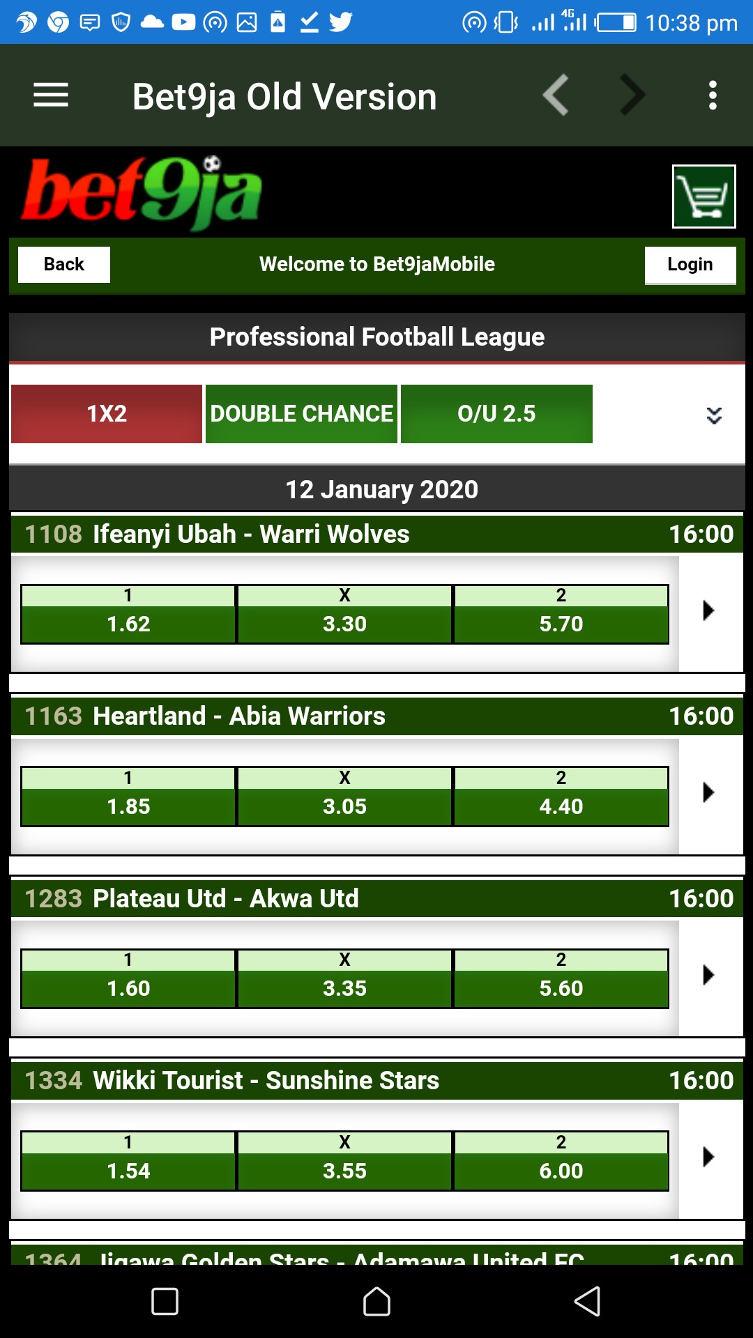 Screenshot 20200111 223856 - Bet9ja Mobile App Old Version - Download Old Bet9ja Apk App