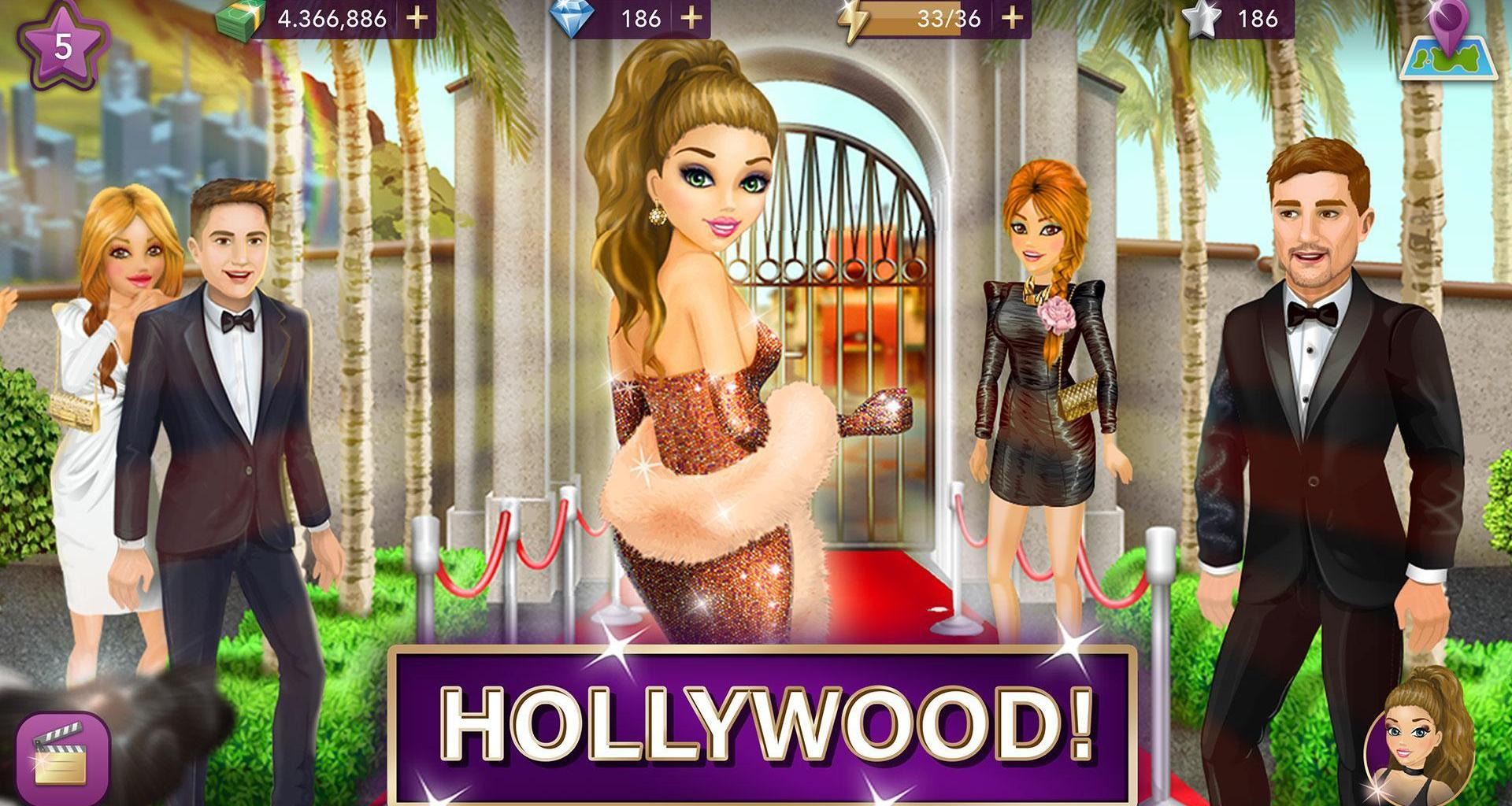 screen 0 - Hollywood Story Mod Apk V10.3.2 (Free Shopping/Unlimited Money)