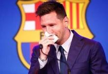 Lionel Messi's tissue he used at his Barcelona farewell press conference is up for sale