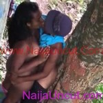 Nigerian Guy Caught Young Lovers Fucking Under The Tree