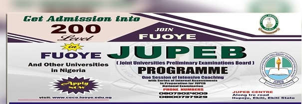 FUOYE JUPEB Application Form