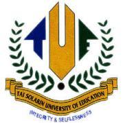 TASUED Postgraduate Admission 2020/2021