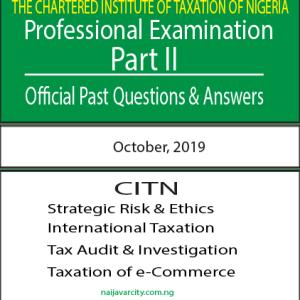 CITN Professional Examination PT II 2019