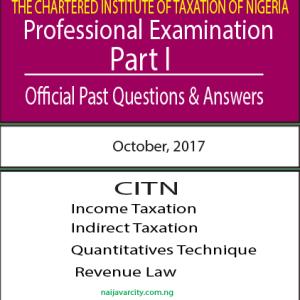 CITN Professional Examination PT I 2017