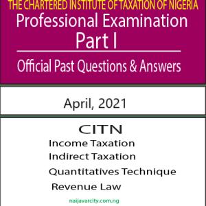 CITN Professional Examination PT I 2021